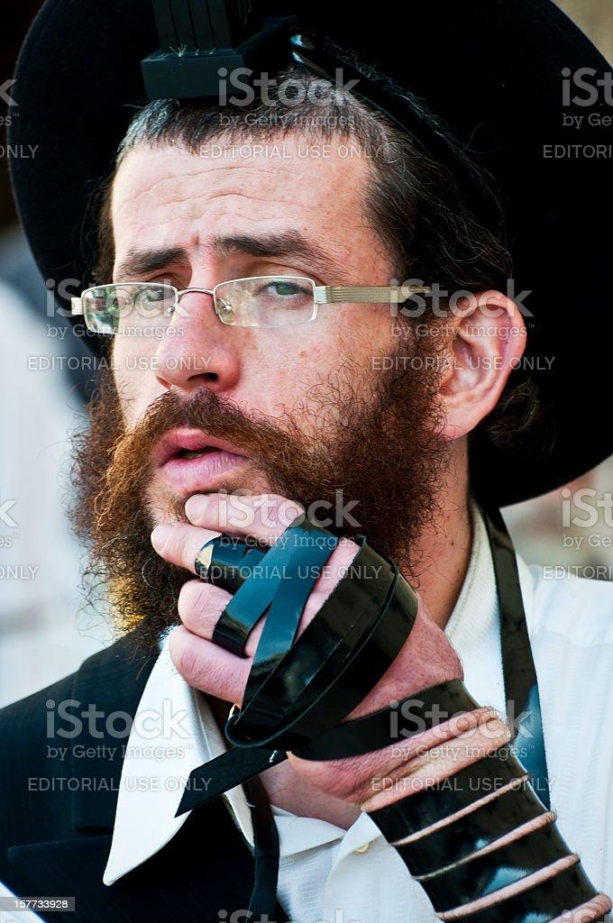 Orthodox Jew stock photo