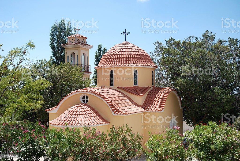 Orthodox monastery on Chios stock photo
