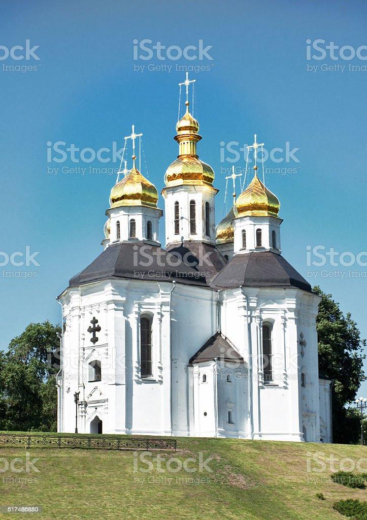 Orthodox temple stock photo