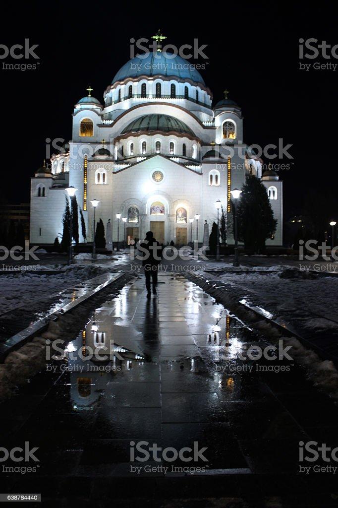 Orthodox Temple Saint Sava Belgrade stock photo