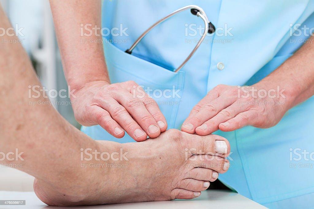 Orthopaedist at work stock photo
