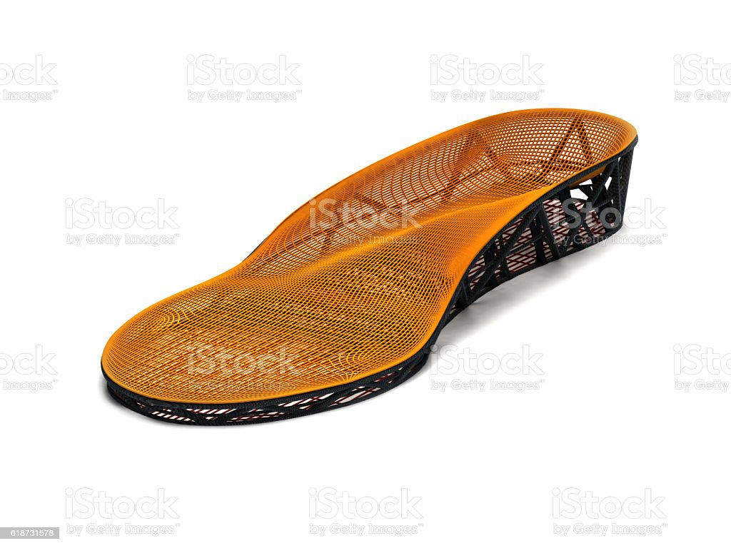 orthopedic insole, 3D printing stock photo