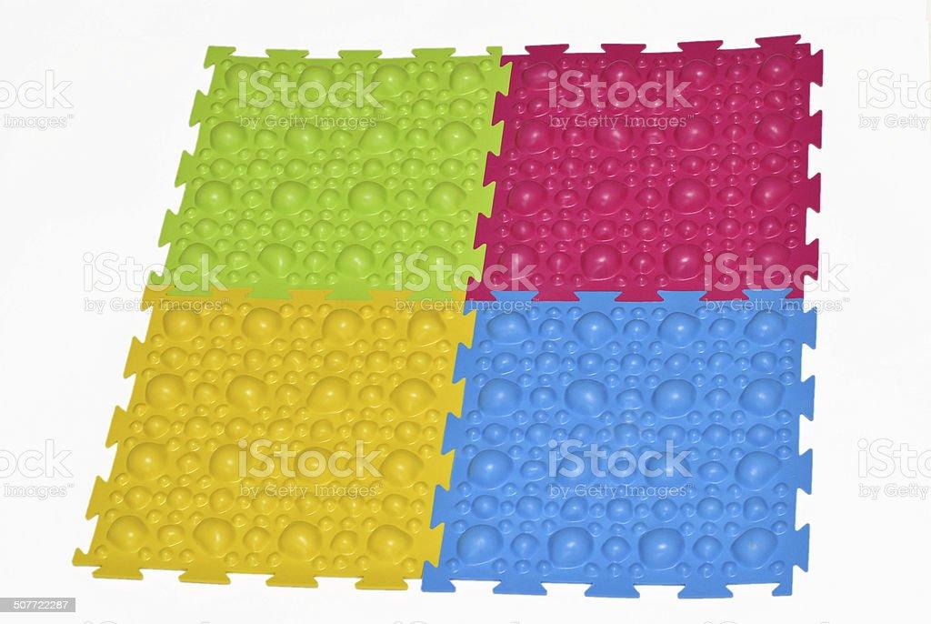 Orthopedic mat for children stock photo
