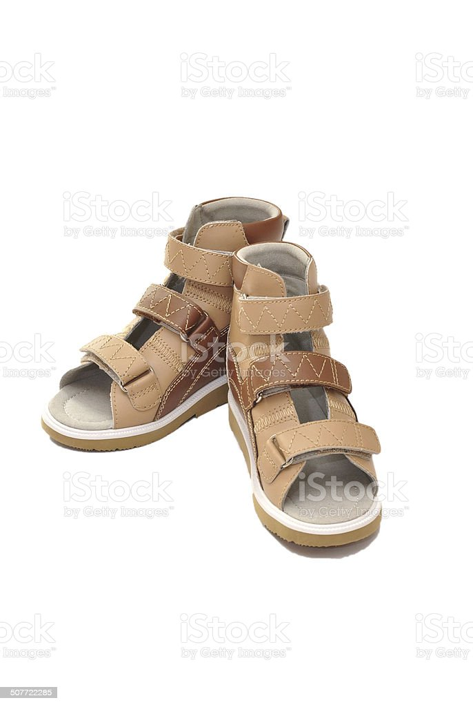 Orthopedic shoes for children stock photo
