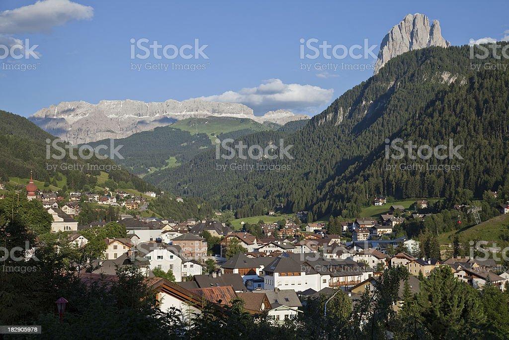 Ortisei, Val gardena, Italy stock photo
