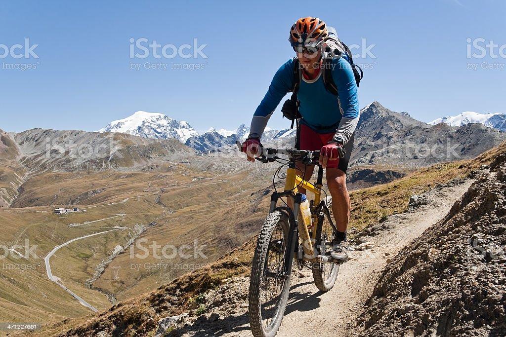 Ortler Biking, South Tyrol royalty-free stock photo