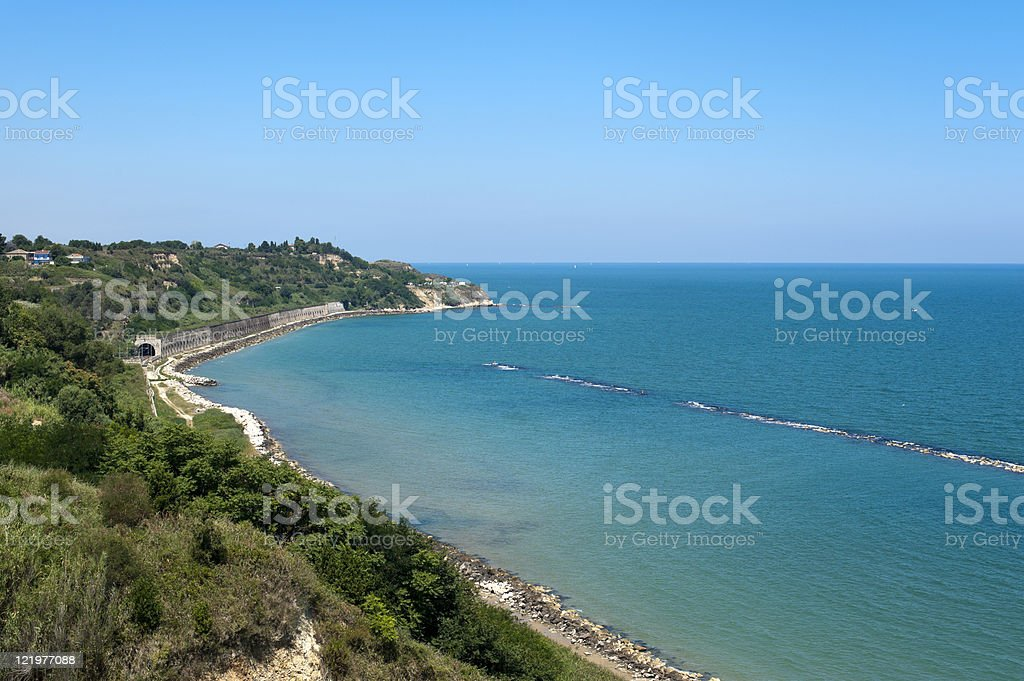 Ortona (Chieti, Abruzzi, Italy), the coast of Adriatic sea stock photo
