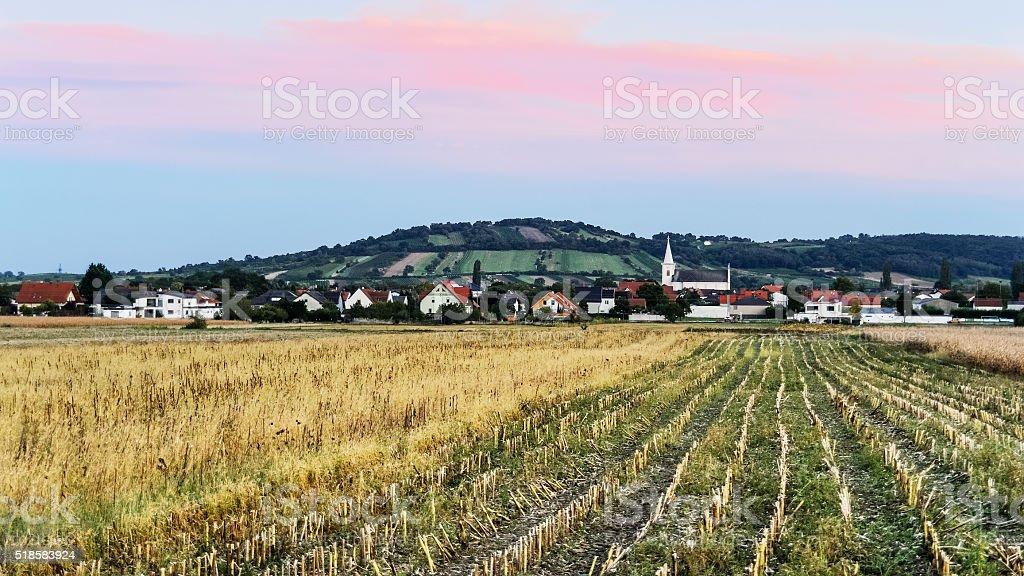 Ortschaft Schützen am Gebirge im Burgenland stock photo