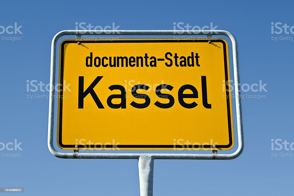 Ortstafel Kassel stock photo