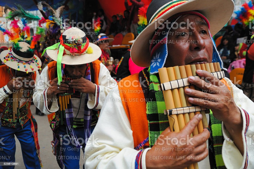 Oruro costume carnival stock photo