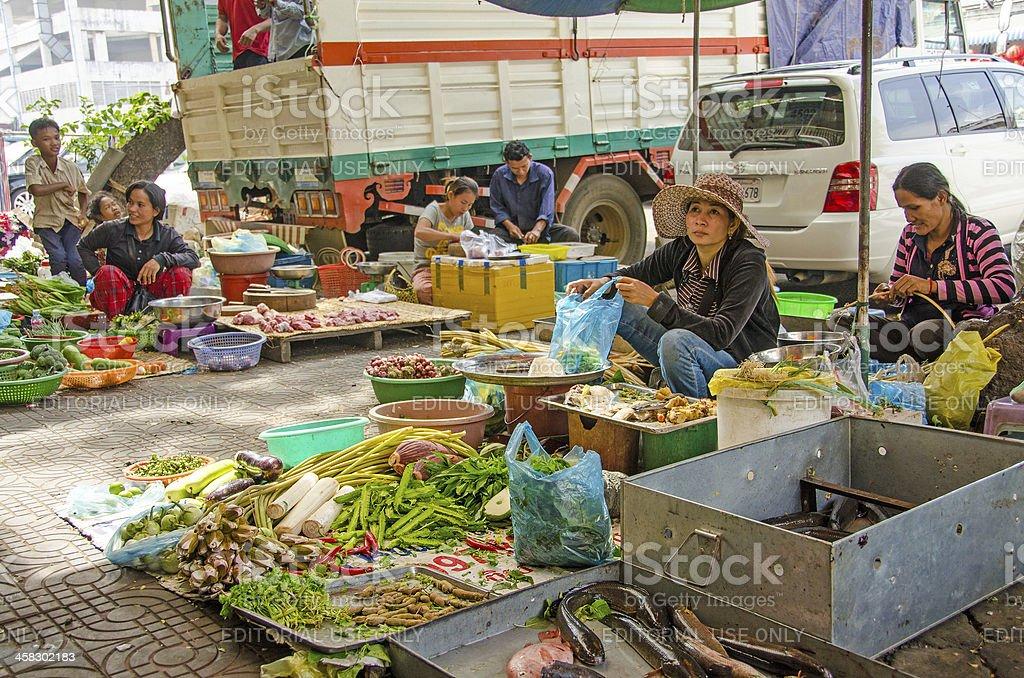 Orussey Market, Phnom Penh royalty-free stock photo