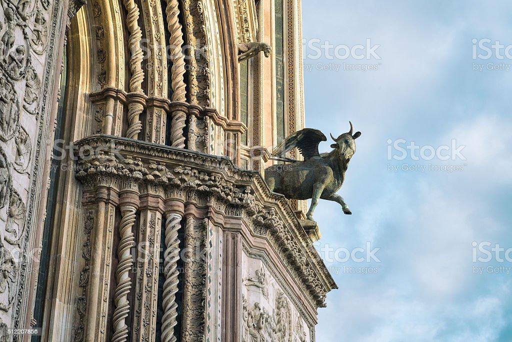Orvieto Cathedral, facade close-up stock photo