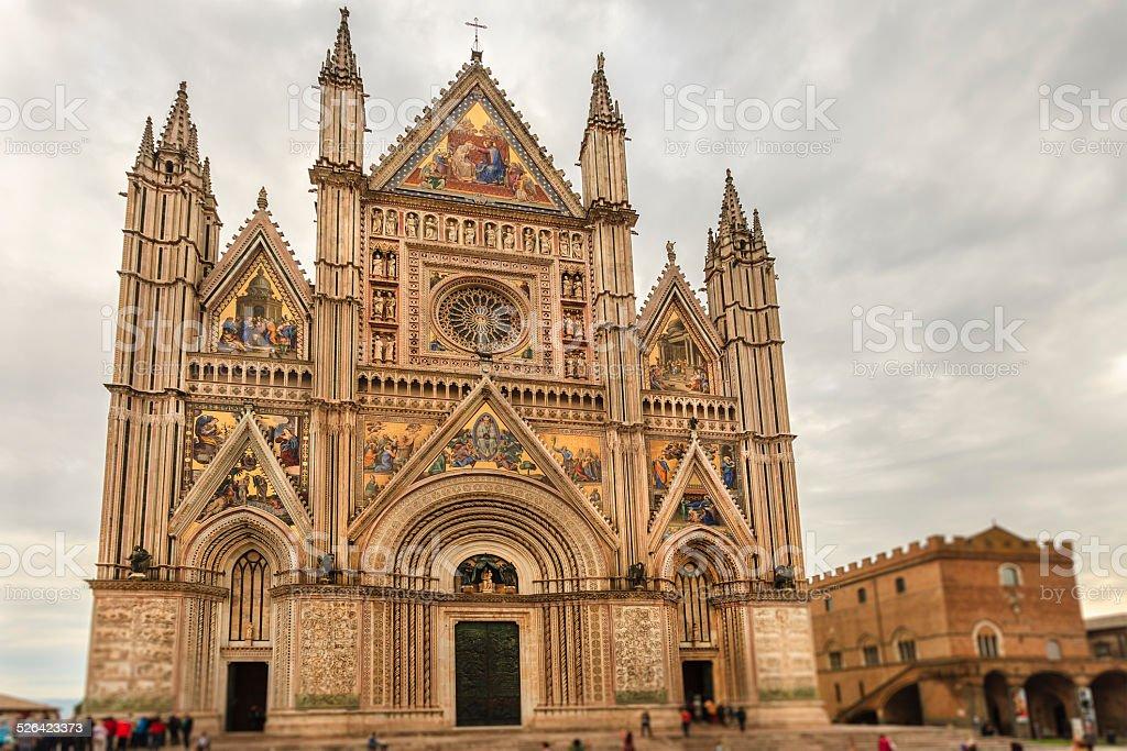 Orvieto Cathedral, Italy stock photo