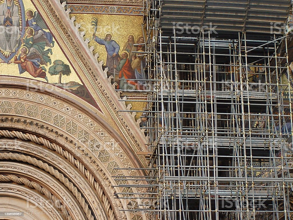 Orvieto cathedral royalty-free stock photo