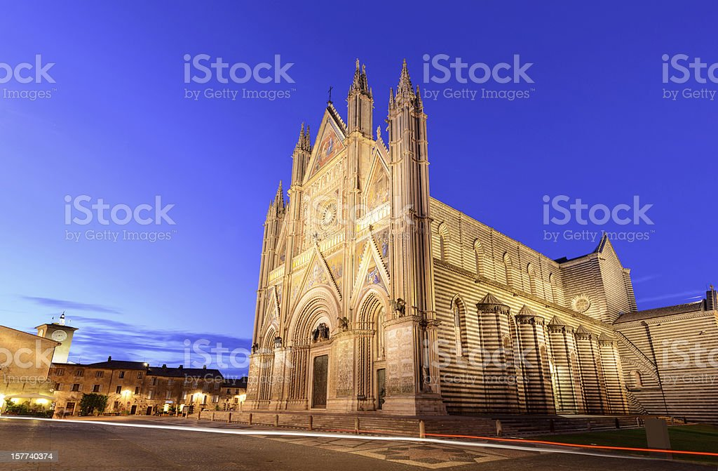 Orvieto Cathedral (Duomo) stock photo