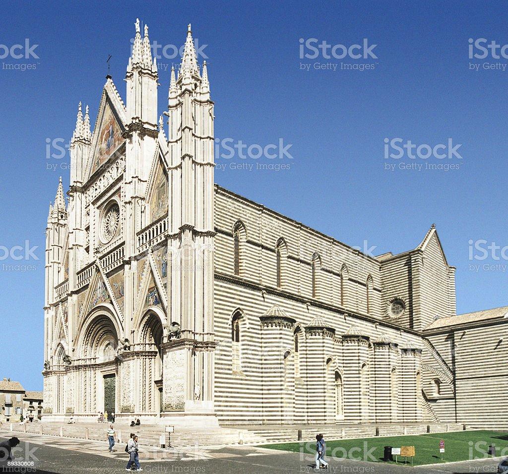 Orvieto Cathedral stock photo