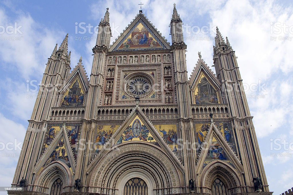 Orvieto Church Spires & Mosaics stock photo