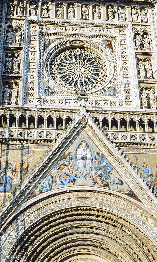 Orvieto (Umbria), Duomo royalty-free stock photo