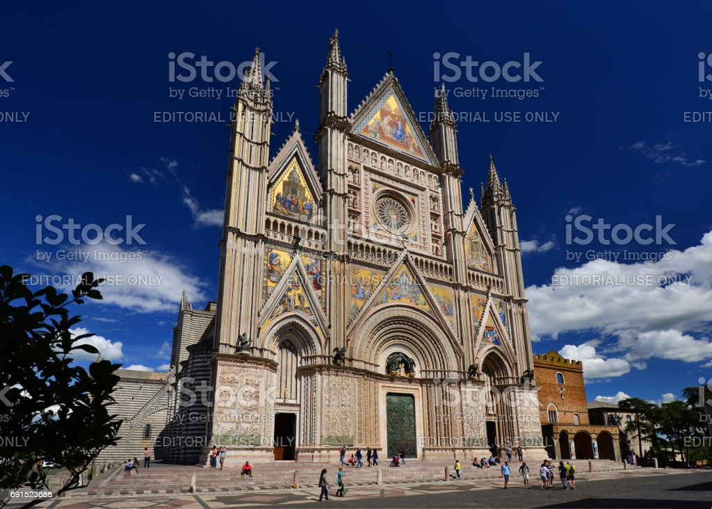 Orvieto Gothic Cathedral stock photo
