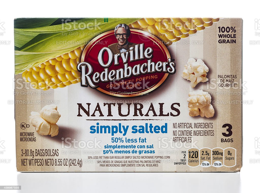 Orville Redenbacher's Naturals gourmet pop corn stock photo