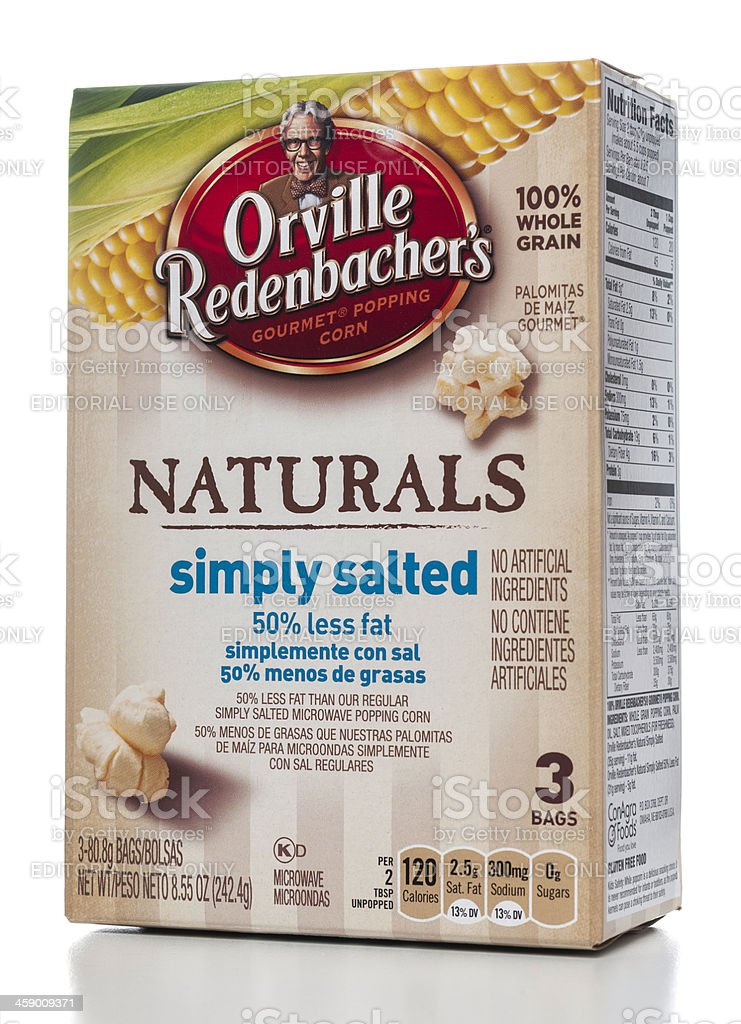 Orville Redenbacher's Naturals gourmet popping corn stock photo