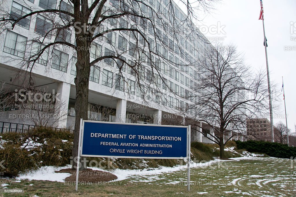 Orville Wright building in DC stock photo