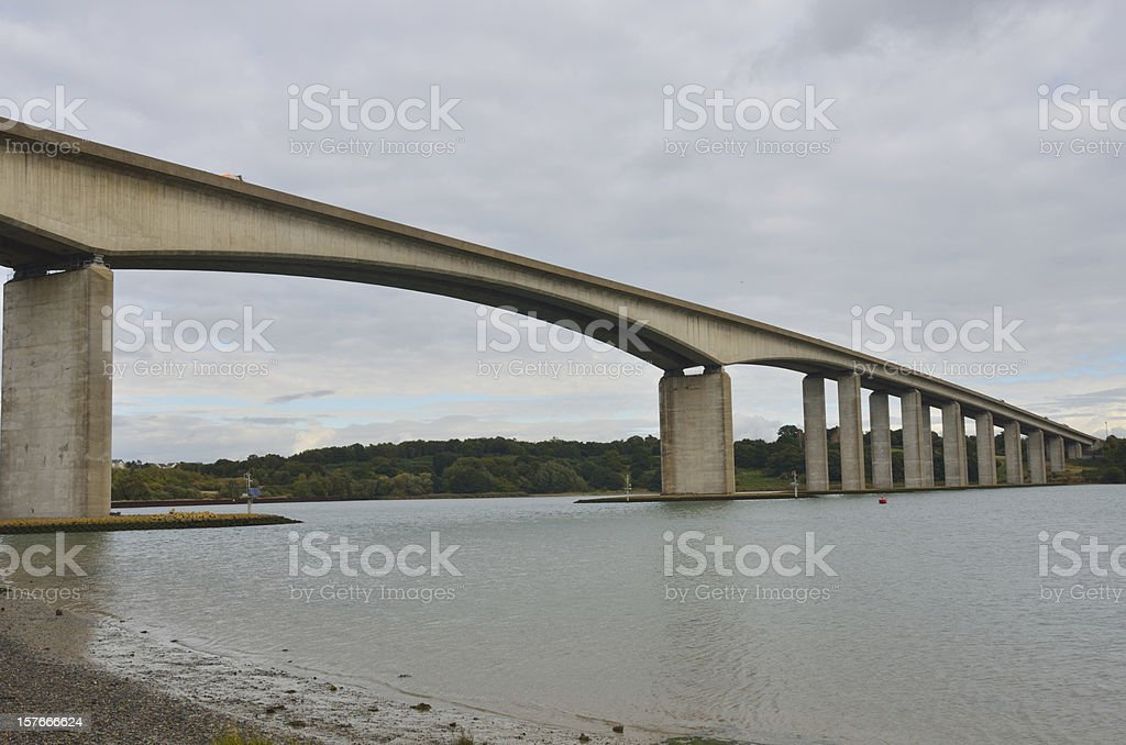 Orwell Bridge Suffolk stock photo