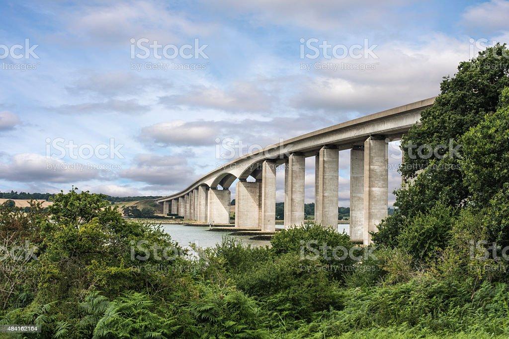 Orwell Bridge Suffolk stock photo