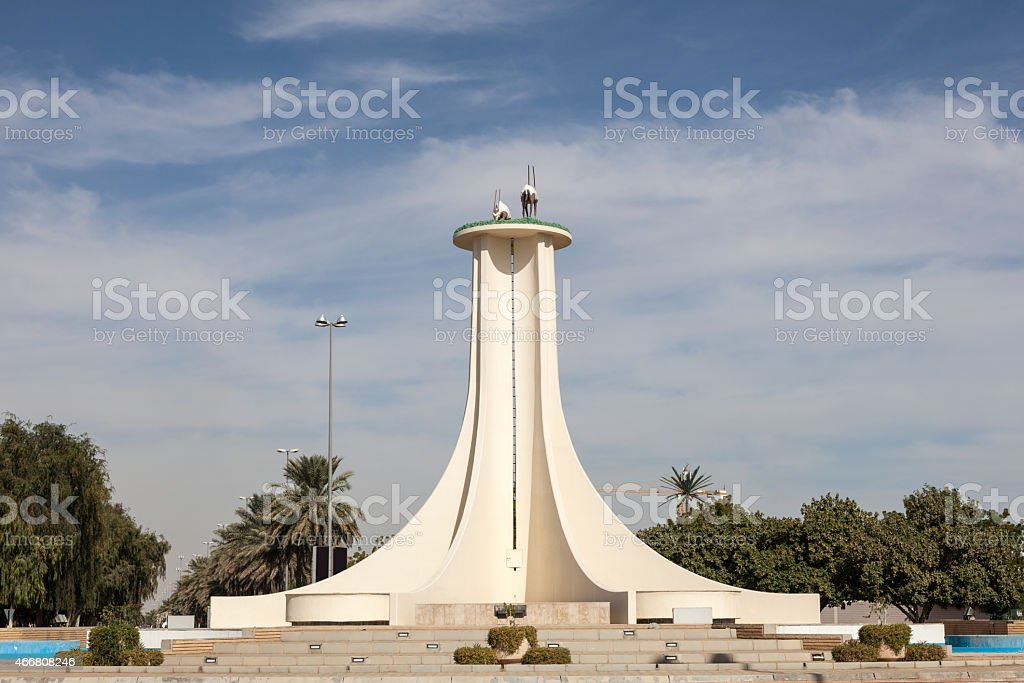 Oryx monument in Al Ain, UAE stock photo