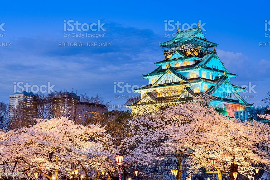 Osaka Castle in the Spring stock photo