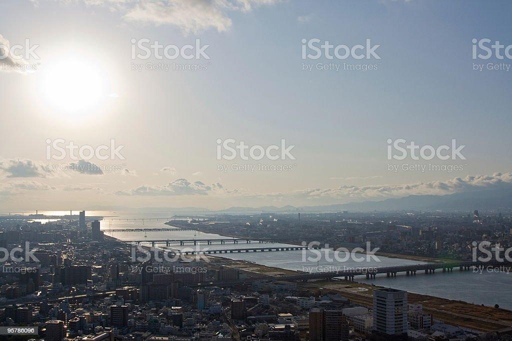 Osaka centro de la ciudad foto de stock libre de derechos