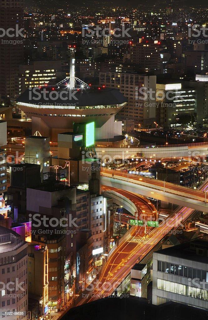 osaka downtown stock photo