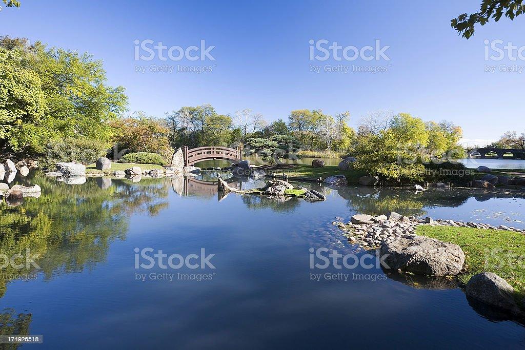 Osaka Garden in Chicago stock photo