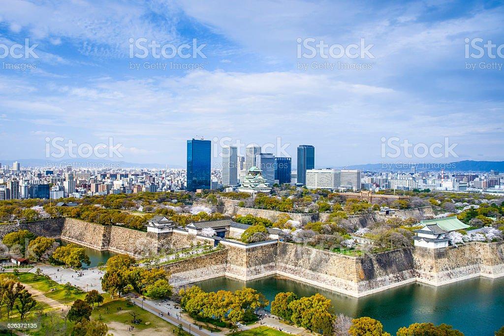 Osaka, Japan City Skyline stock photo