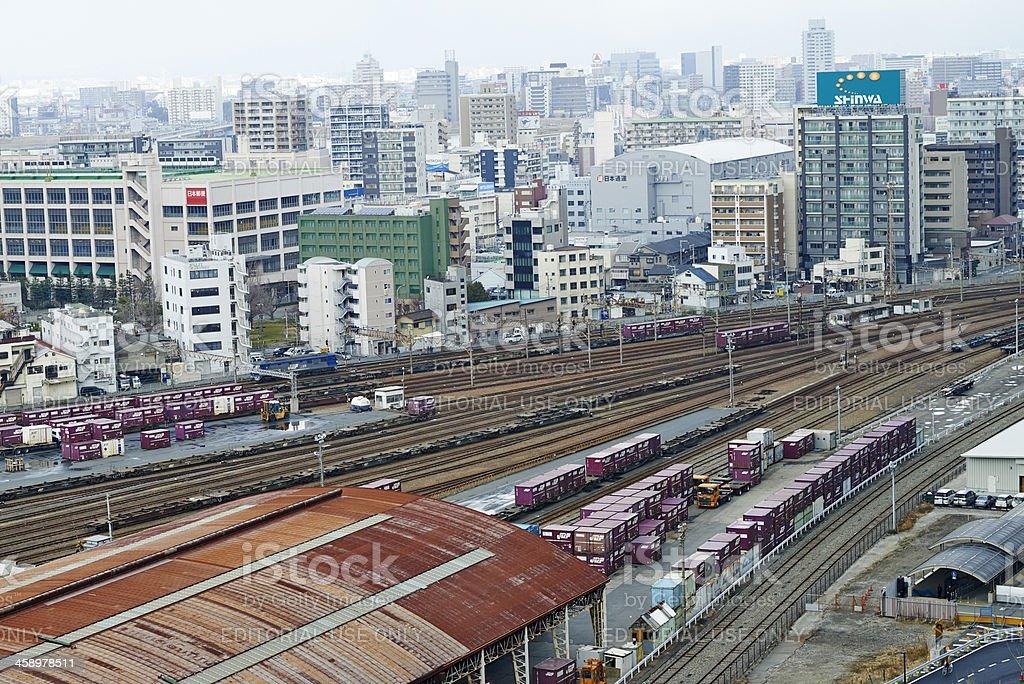 Osaka JR Container Terminal stock photo