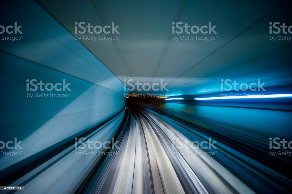 Osaka monorail Motion Blur stock photo