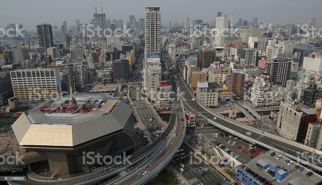 Osaka view stock photo