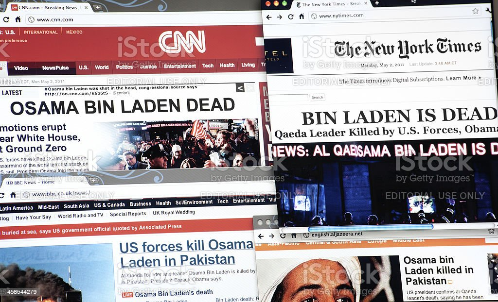Osama Bin Laden is Dead, Breaking News stock photo