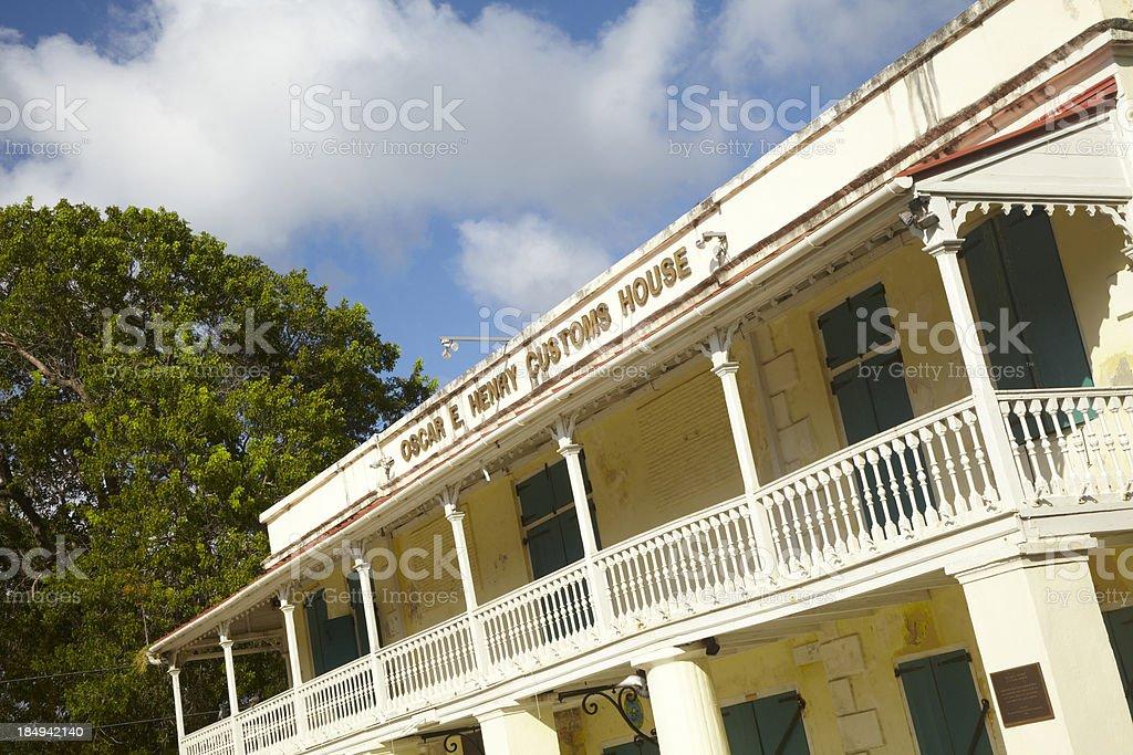 Oscar E. Henry Customs House, St. Croix, US Virgin Islands royalty-free stock photo