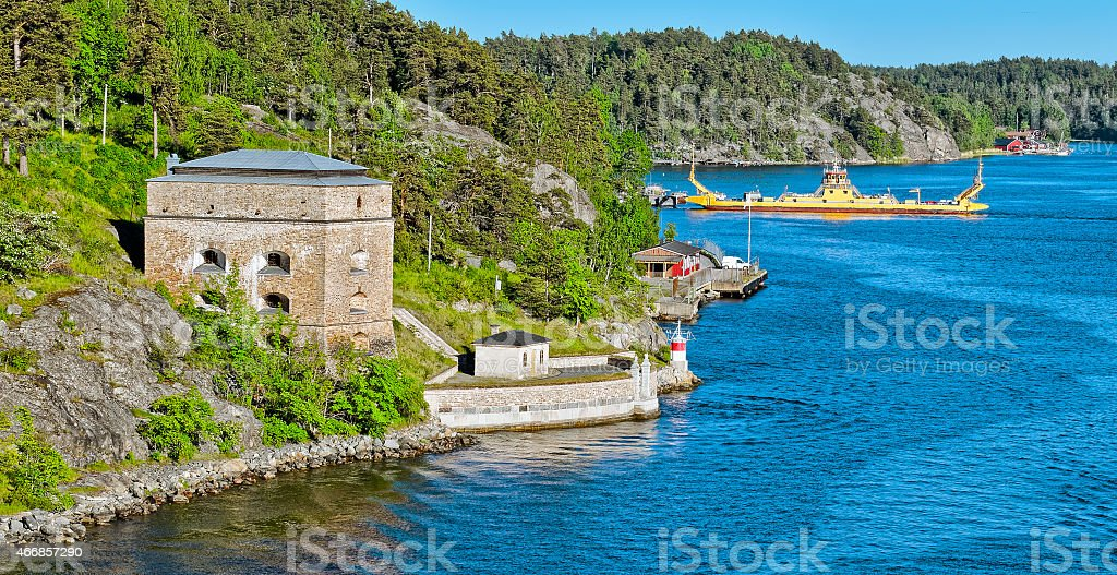 Oscar Fredriksborgs fortification stock photo
