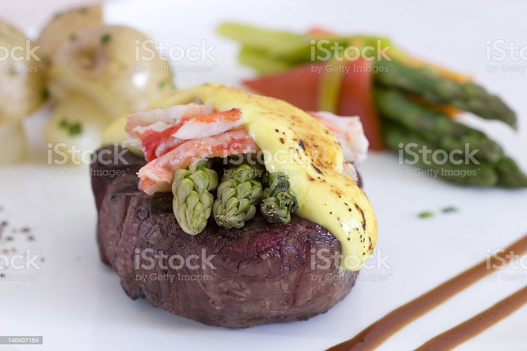 Filet Oscar royalty-free stock photo