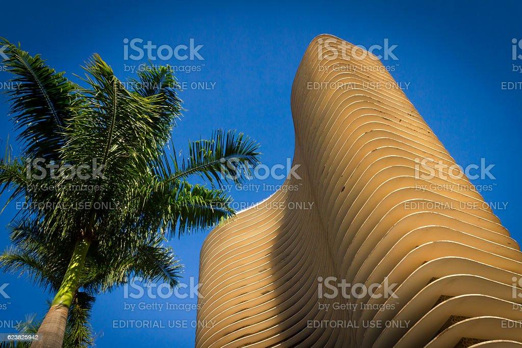 Oscar Niemeyer buiding, Belo Horizonte city, Brazil stock photo