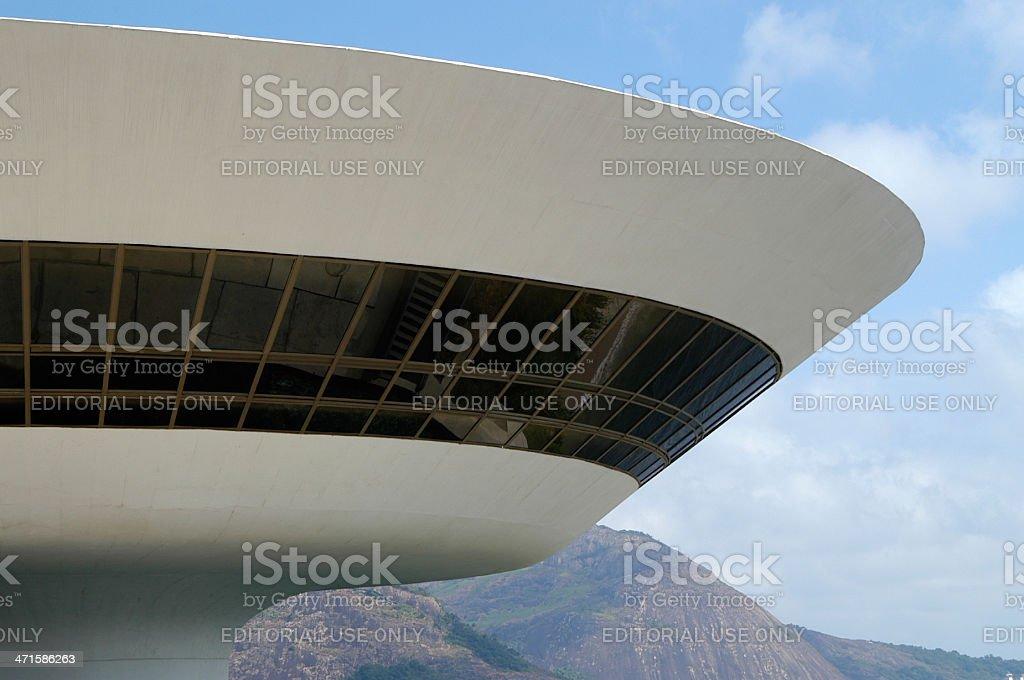 Oscar Niemeyer Niteroi Contemporary Art Museum Rio de Janeiro Brazil stock photo