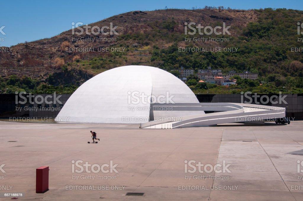 Oscar Niemeyer Popular Theater of Niteroi stock photo