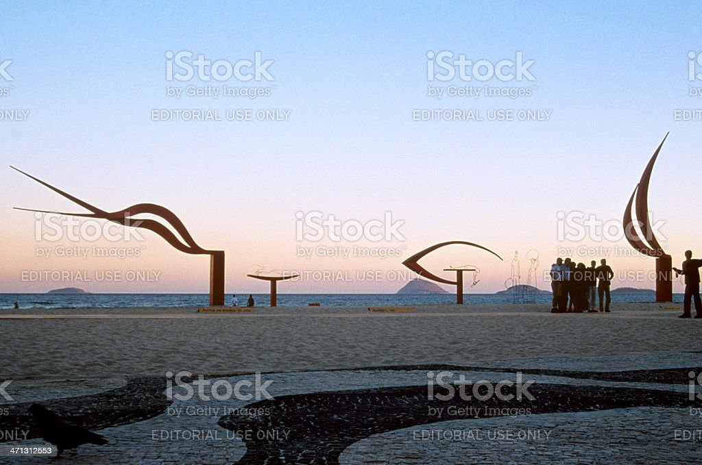 Oscar Niemeyer´s sculptures royalty-free stock photo