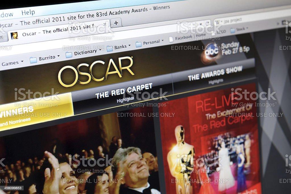 Oscars website royalty-free stock photo