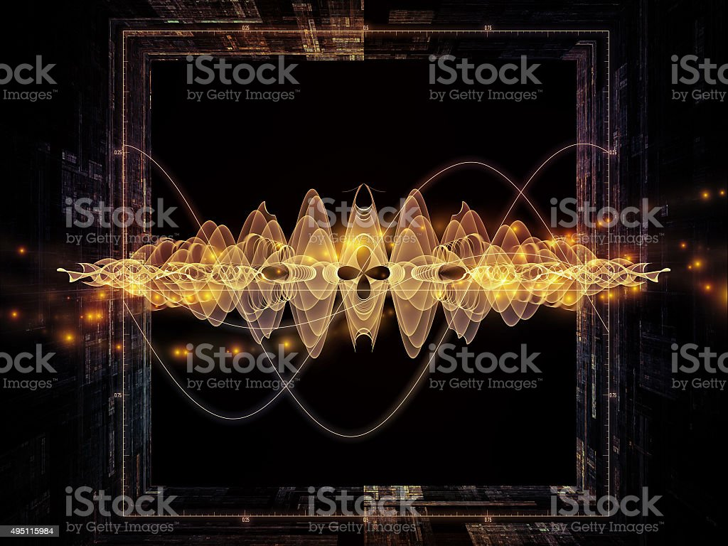 Oscillation Graph stock photo