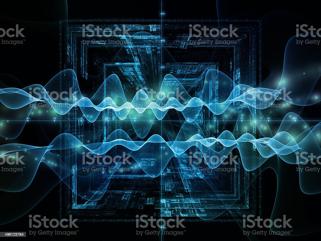 Oscillation Signal stock photo