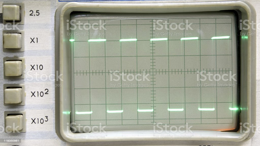 oscillograph stock photo