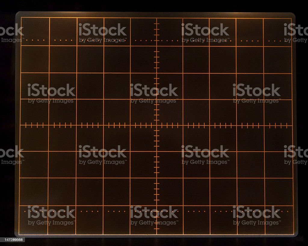 Oscillograph screen royalty-free stock photo